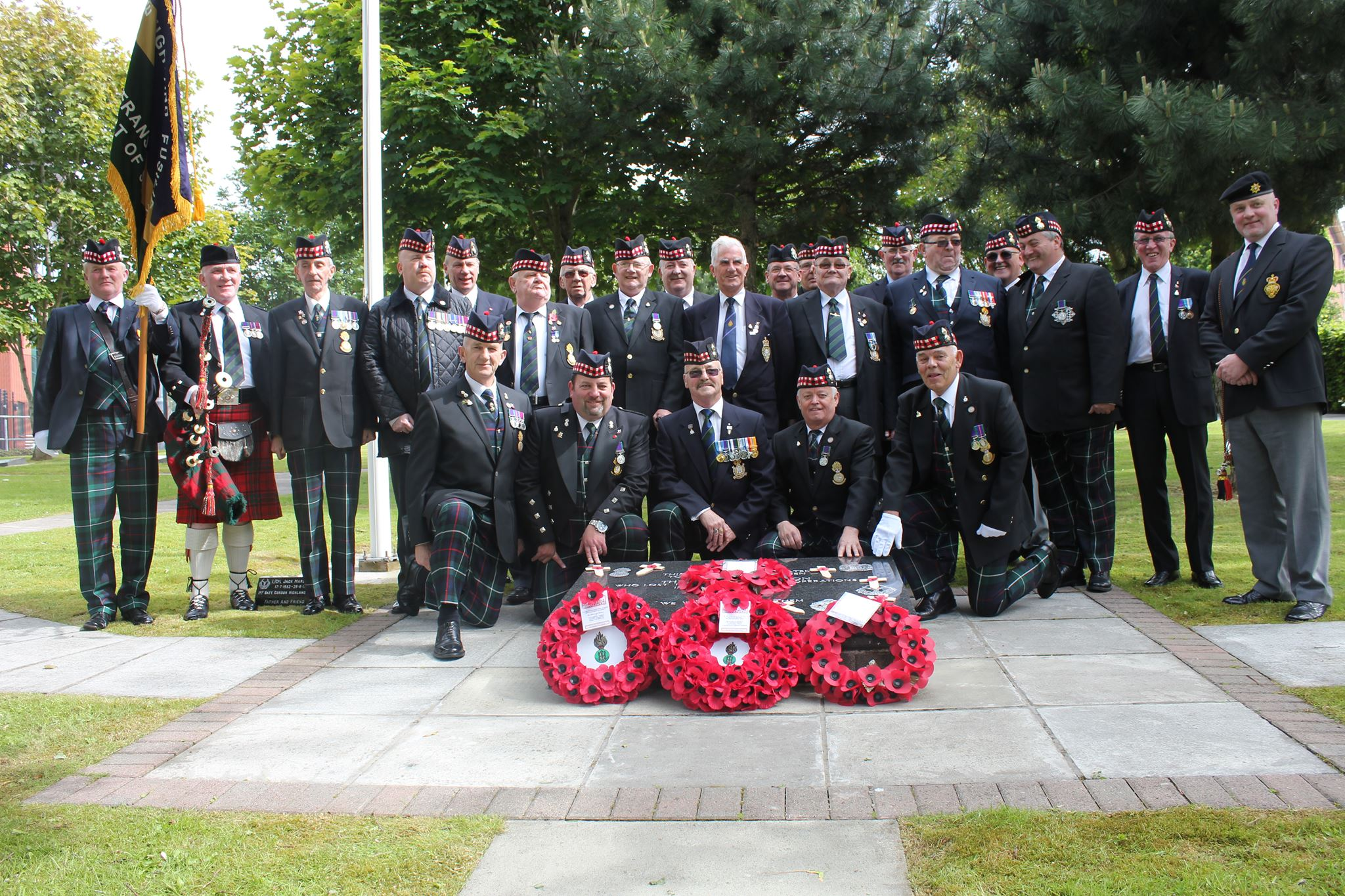 RHF Veterans visit the Memorial Garden to remember members of the 1st Bn killed in NI