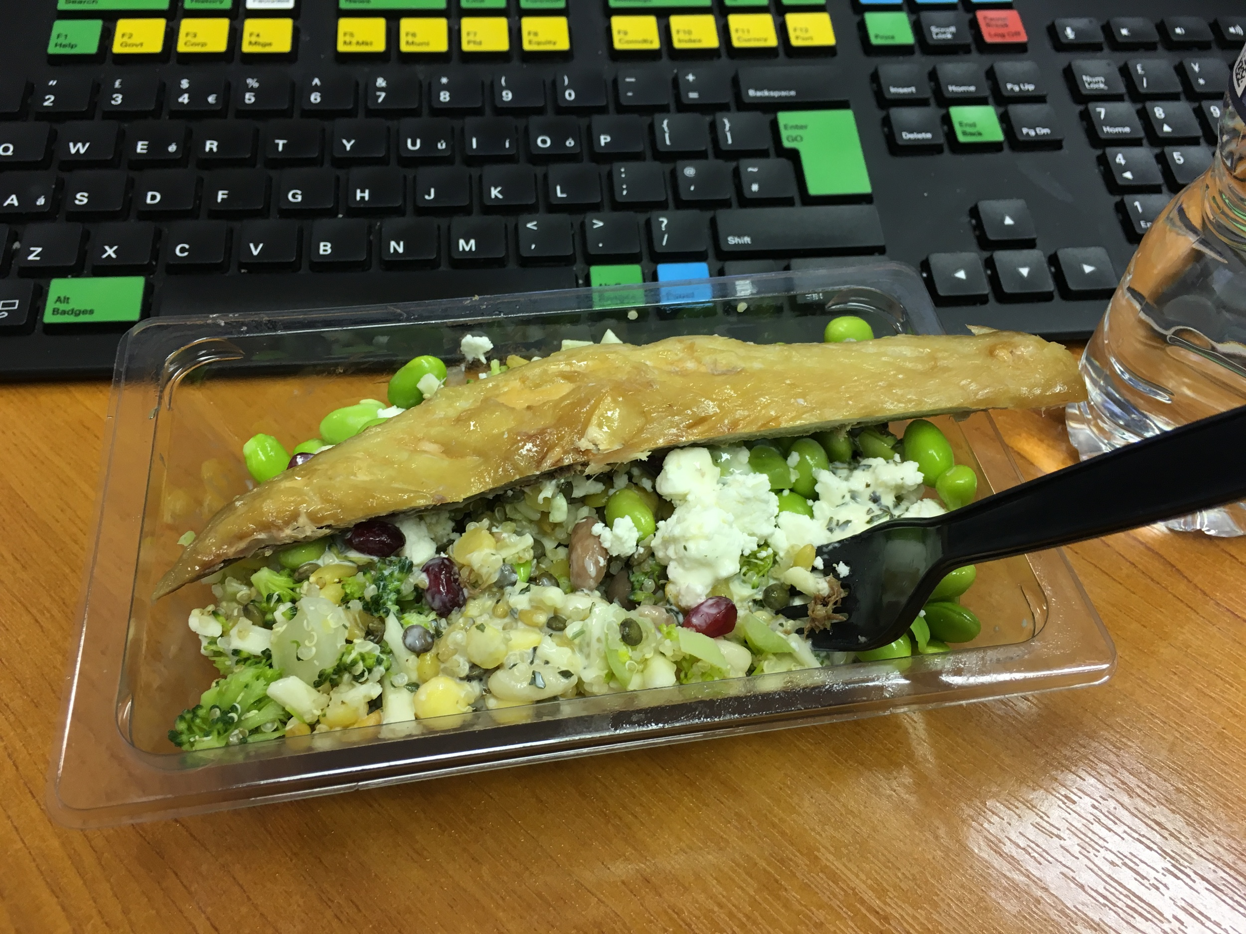 January Detox hits hard with the M&S wholefood salad with some smoked mackerel for lunch. What is there not to love..... hmmmmm, yumety, scrumety......