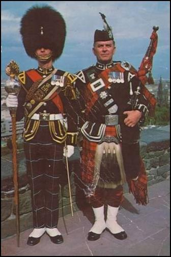 Drum Major Ronnie Hughes and Pipe Major William Frame, Ronnie's friend who also recently passed away. That will be one heck of a smoker when they two get together.