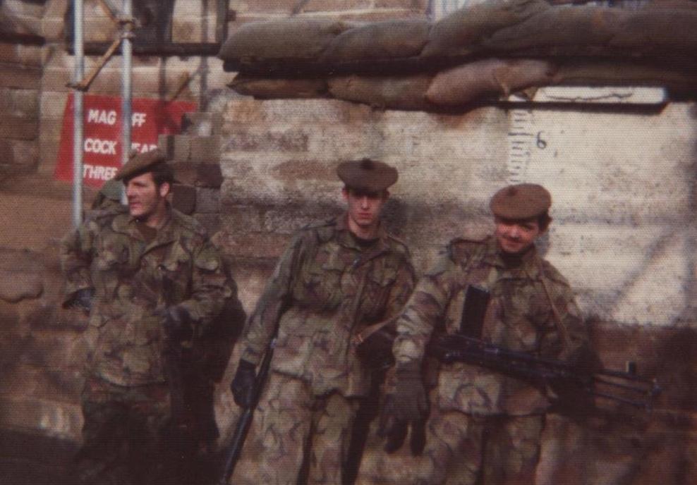 Annie, (left) NI patrol base.