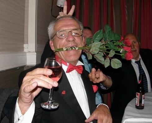 Ronnie at a friend's wedding