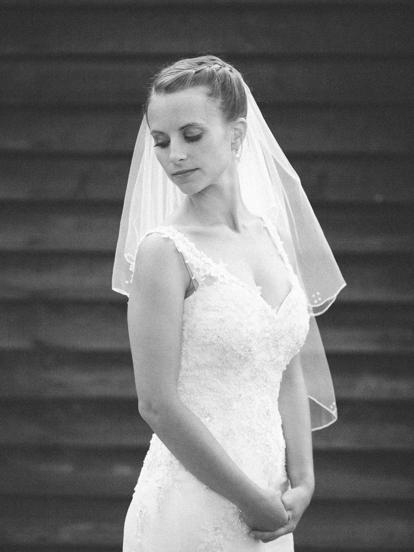 Hochzeit Brau im Hochzeitskleid