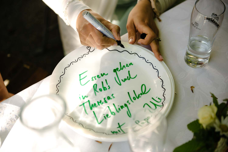 Detail Teller Hochzeitsspiel Kaffee Kuchen Hochzeit Rostocker Fotograf in Augsburg