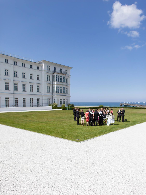 Innenhof Hochzeit Wedding Grand Hotel Heiligendamm