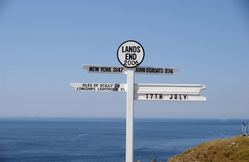 Three of our hire bikes are being ridden from Lands End to John O'Grouts.