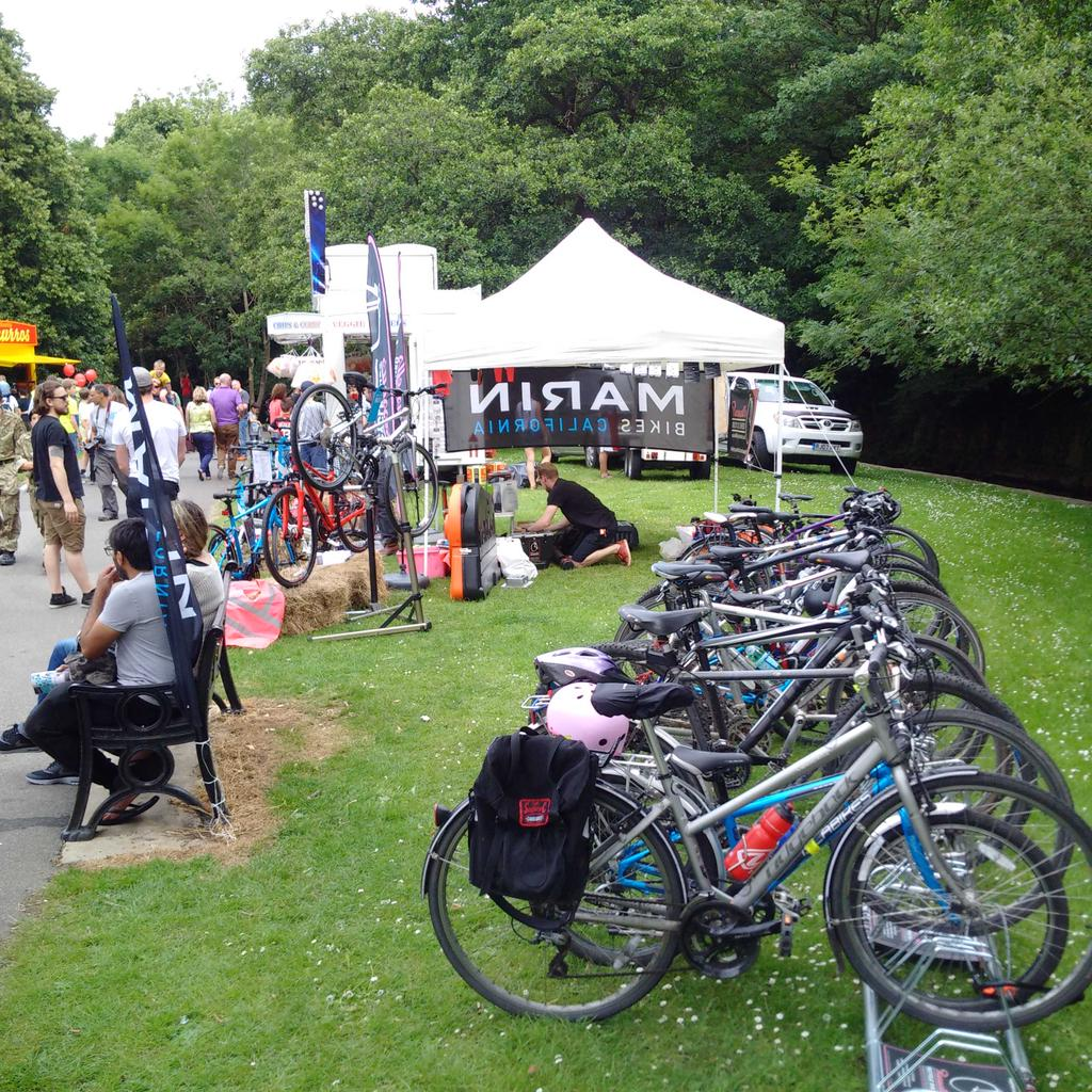 Russell's Bicycle Shed: created the official bike park at Cliffhanger 2015, Sheffield.