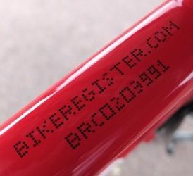 Bike Register Marking