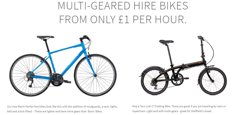 No bike? No worries. Take advantage of our cycle hire scheme for only £5 for the day.