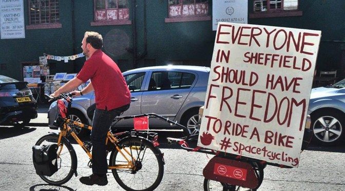 Cycle Sheffield campaign for #space4cycling in Sheffield.