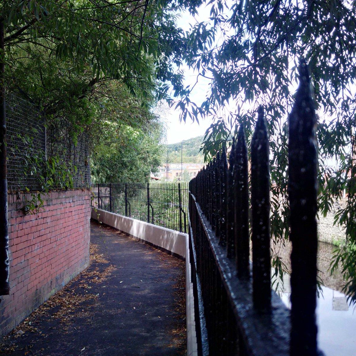 Waterloo Walk - Secretly peaking down on the River Don