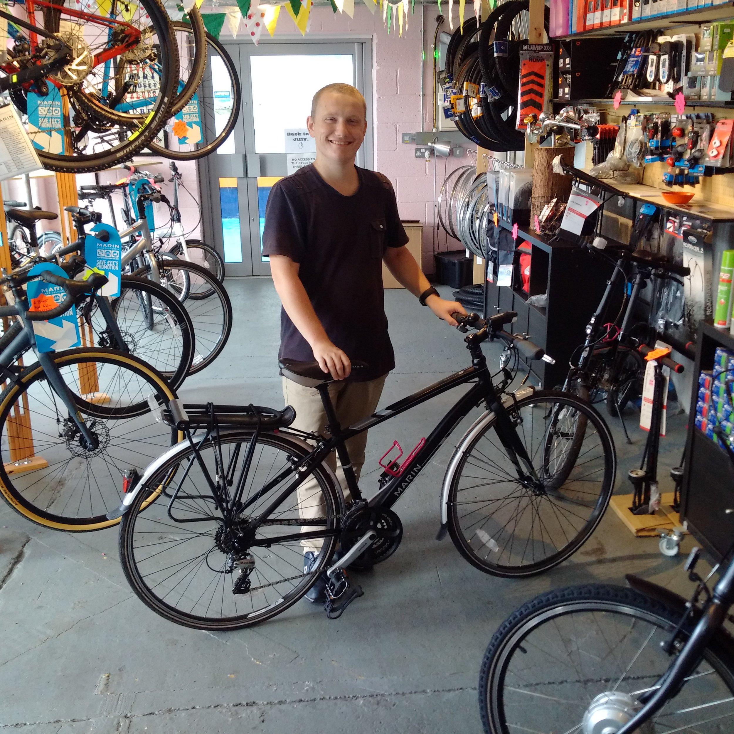 Daniel takes ownership of his Hire Bike