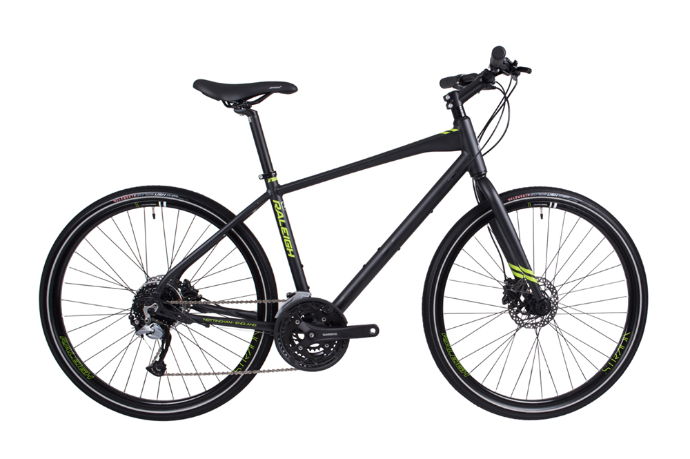 Our New Raleigh Strada 4 bicycles have hydraulic brakes and fatter tyres for comfort.