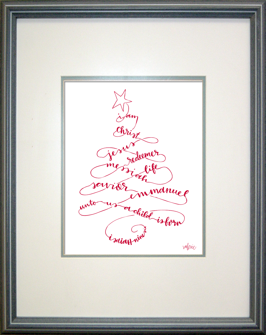Christmas Word Tree (Available in 6 colors)