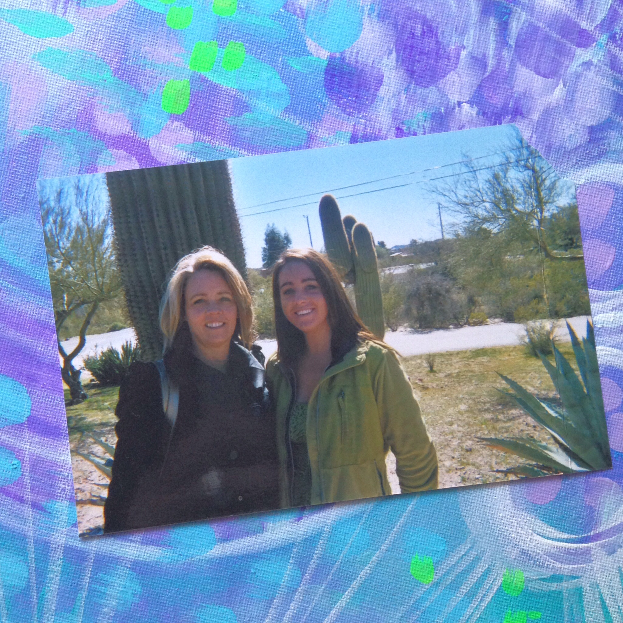 ((my mom and I in Arizona where I went to rehab at, this was about one month in when I started to smile again))