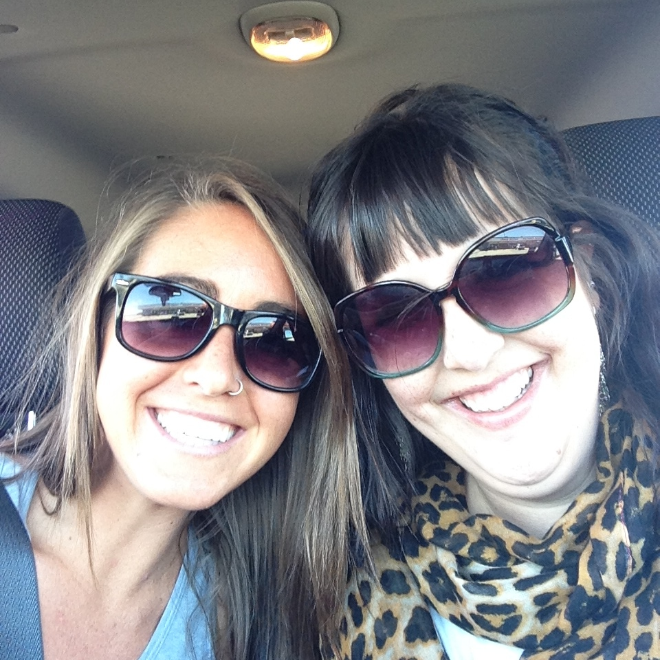 ((Carissa and I on our way to Beth Moore))