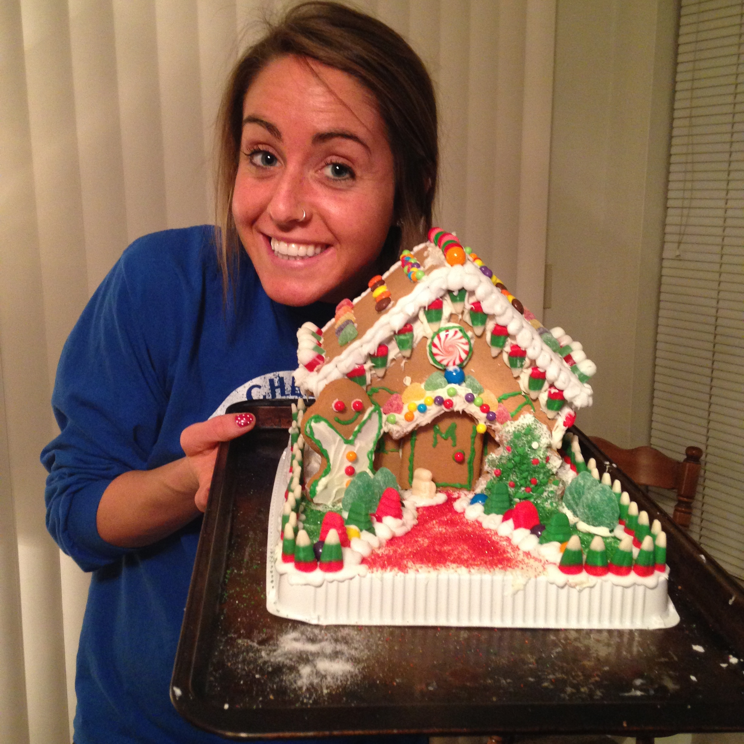 ((We learned how hard it was to make a gingerbread house))
