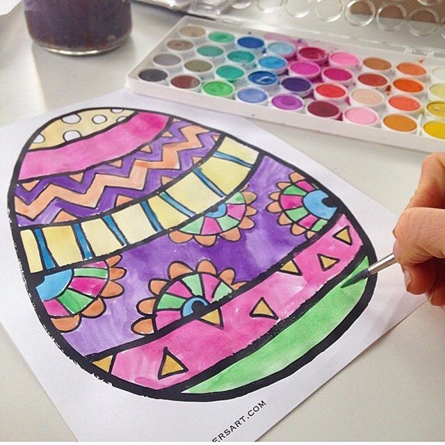 Easter coloring pages are up and ready to download! Shop ValerieWienersArt.com