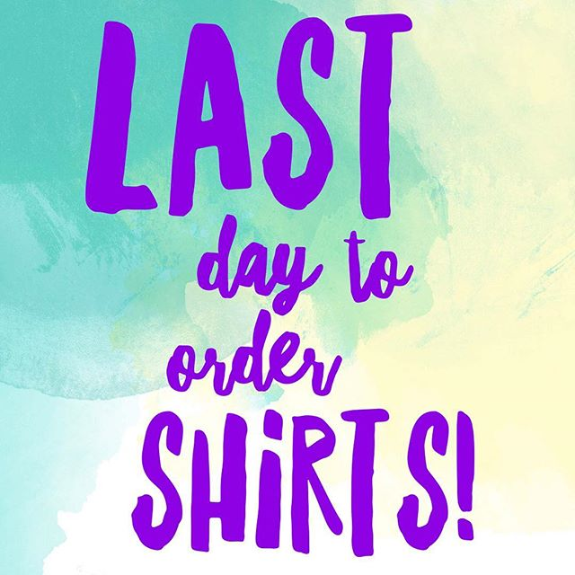 I'm placing my shirt order tomorrow- get your orders in! Shop ValerieWienersArt.com