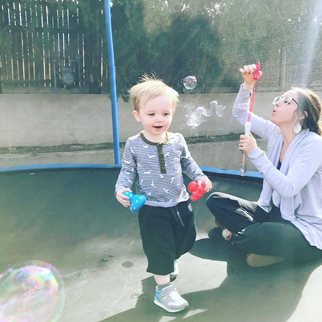 We had some bubble fun today. #olivermassie