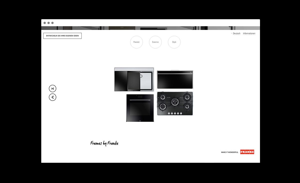 Webseite framesbyfranke.com: Zusammenarbeit Freundliche Grüsse & Y7K