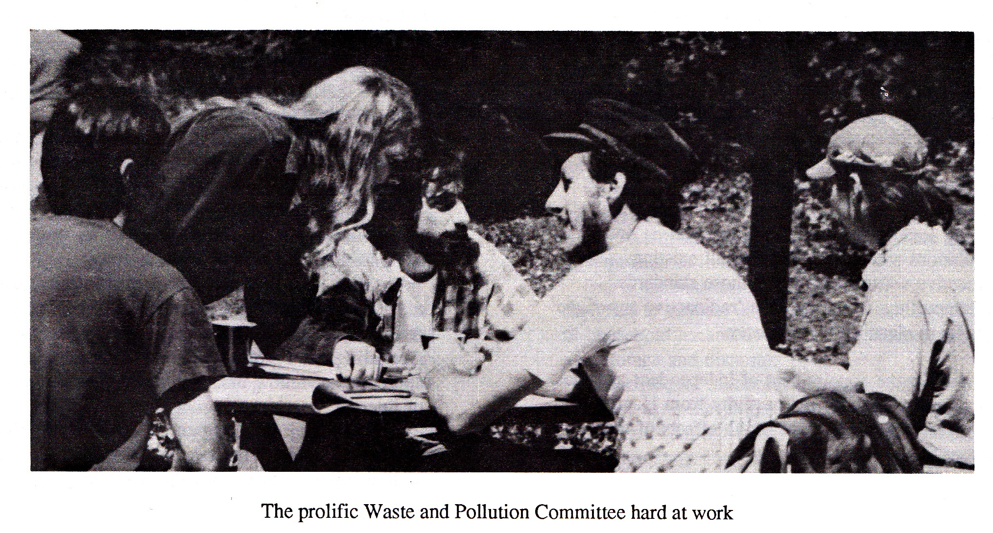 The prolific Waste and Pollution Committee hard at work.