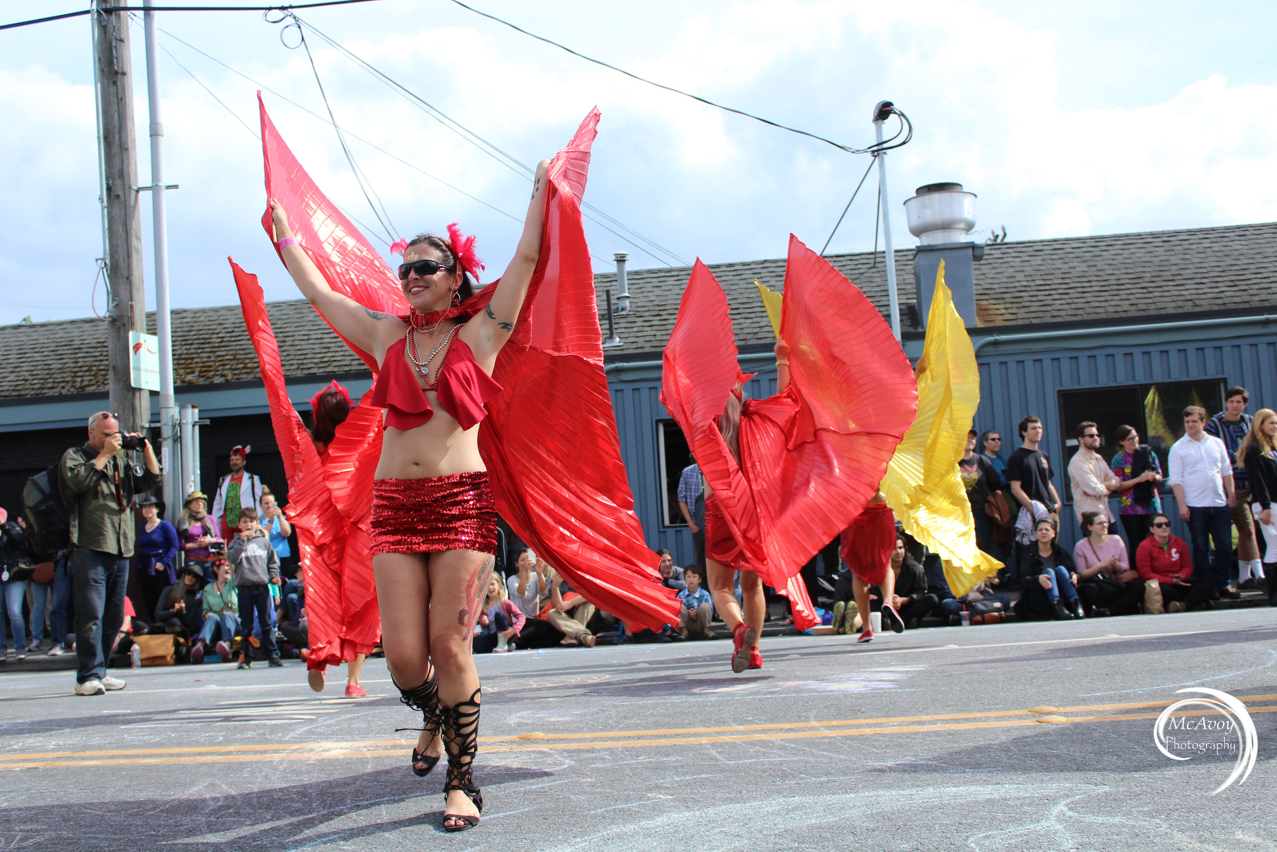 Local dance group Blanco Pacifico shows off their traditional Spanish dances and color.