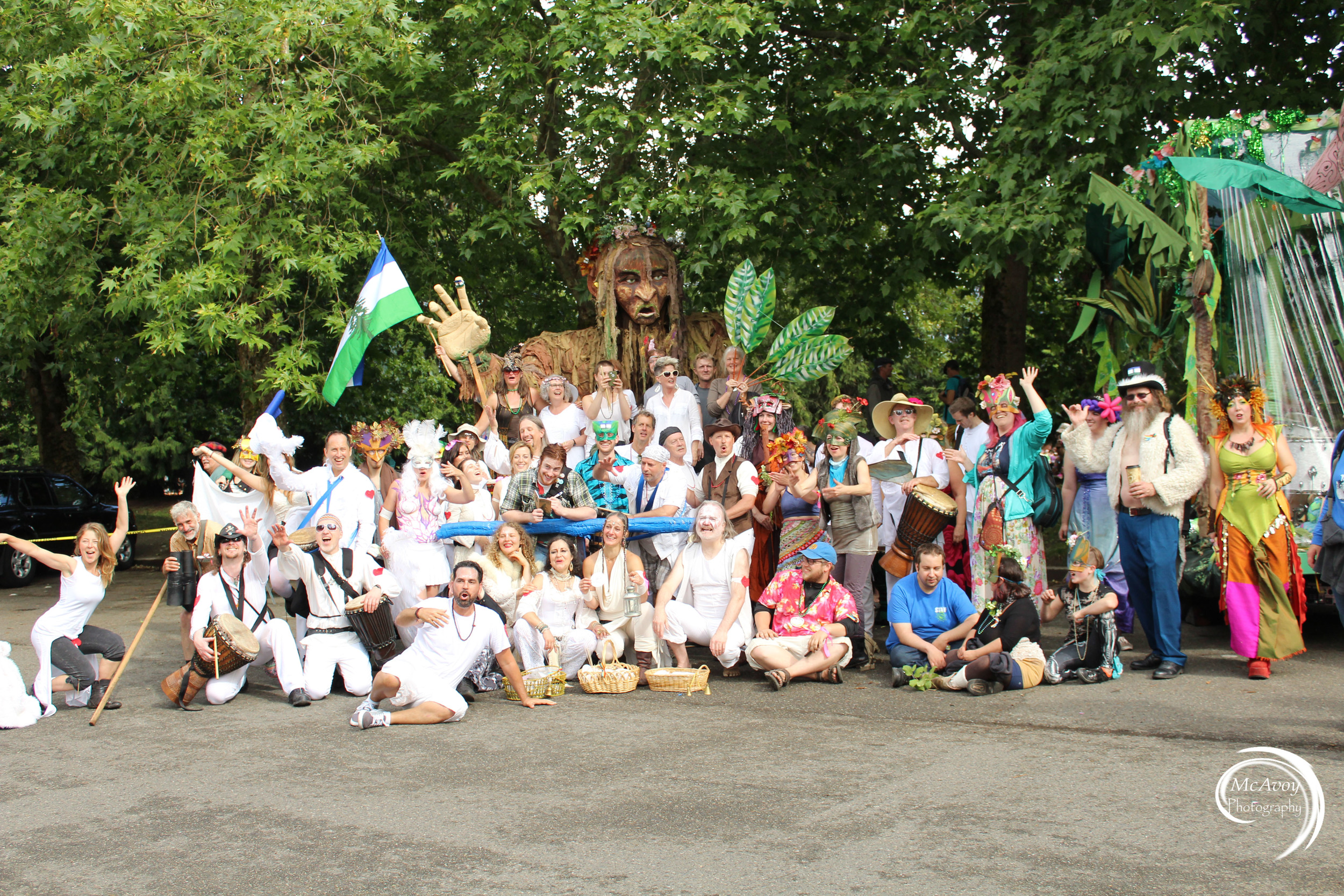Dream Dance Cascadia, Fremont Drum All-Stars, Mythica Village, CascadiaNow!, and all the wonderful volunteers came together to create a magical parade experience for the community.