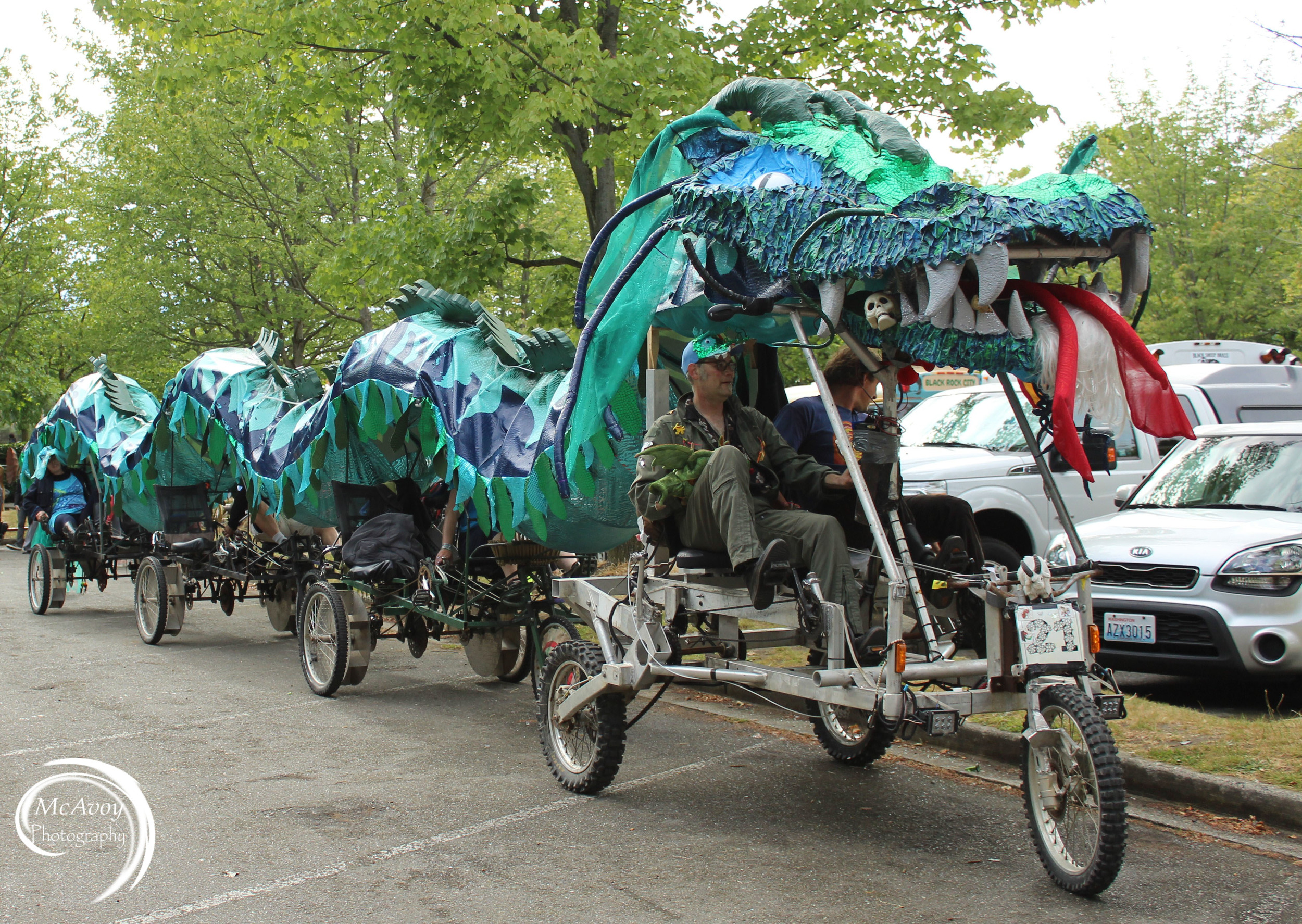 The Fremont Solstice parade has a long tradition of no logos, words or motorized vehicles.