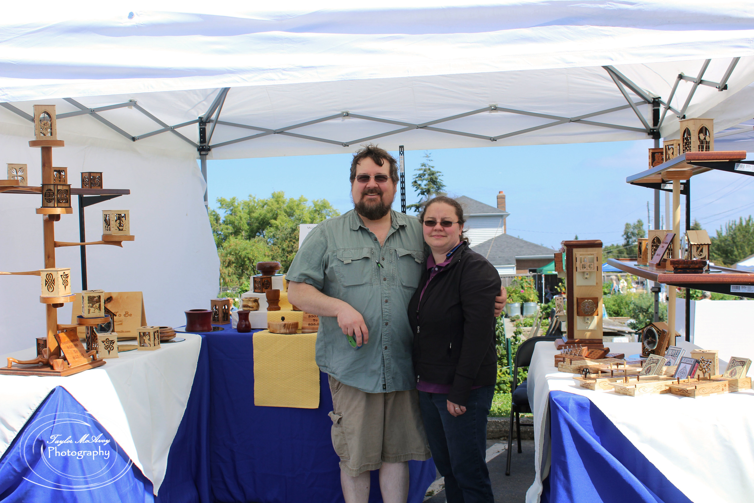 John Lateer and his wife Terri enjoyed their first year setting up their booth, Heirlooms To Be at the P-Patch.