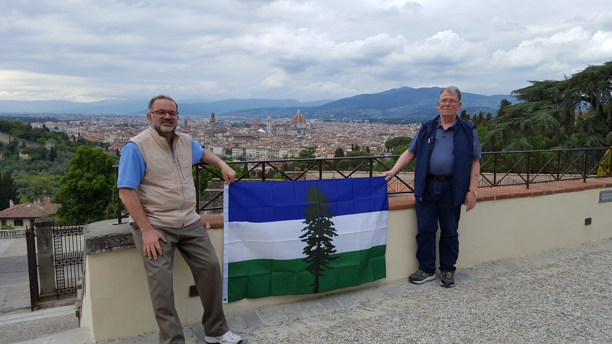 Joel Selling & Crew celebrating Cascadia all the way from Florence, Italy