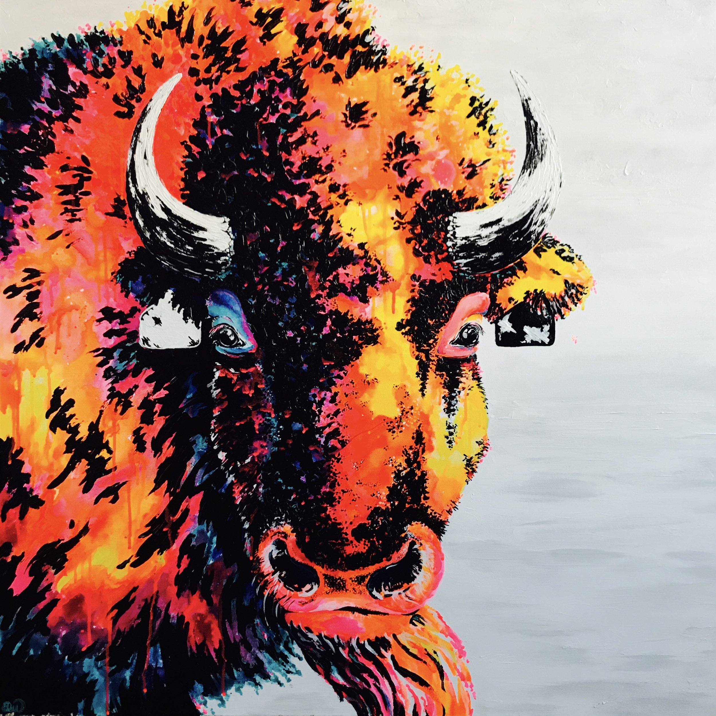 DWenarchuk - Grazing Gaze 36x36 Acrylic on Canvas.jpeg