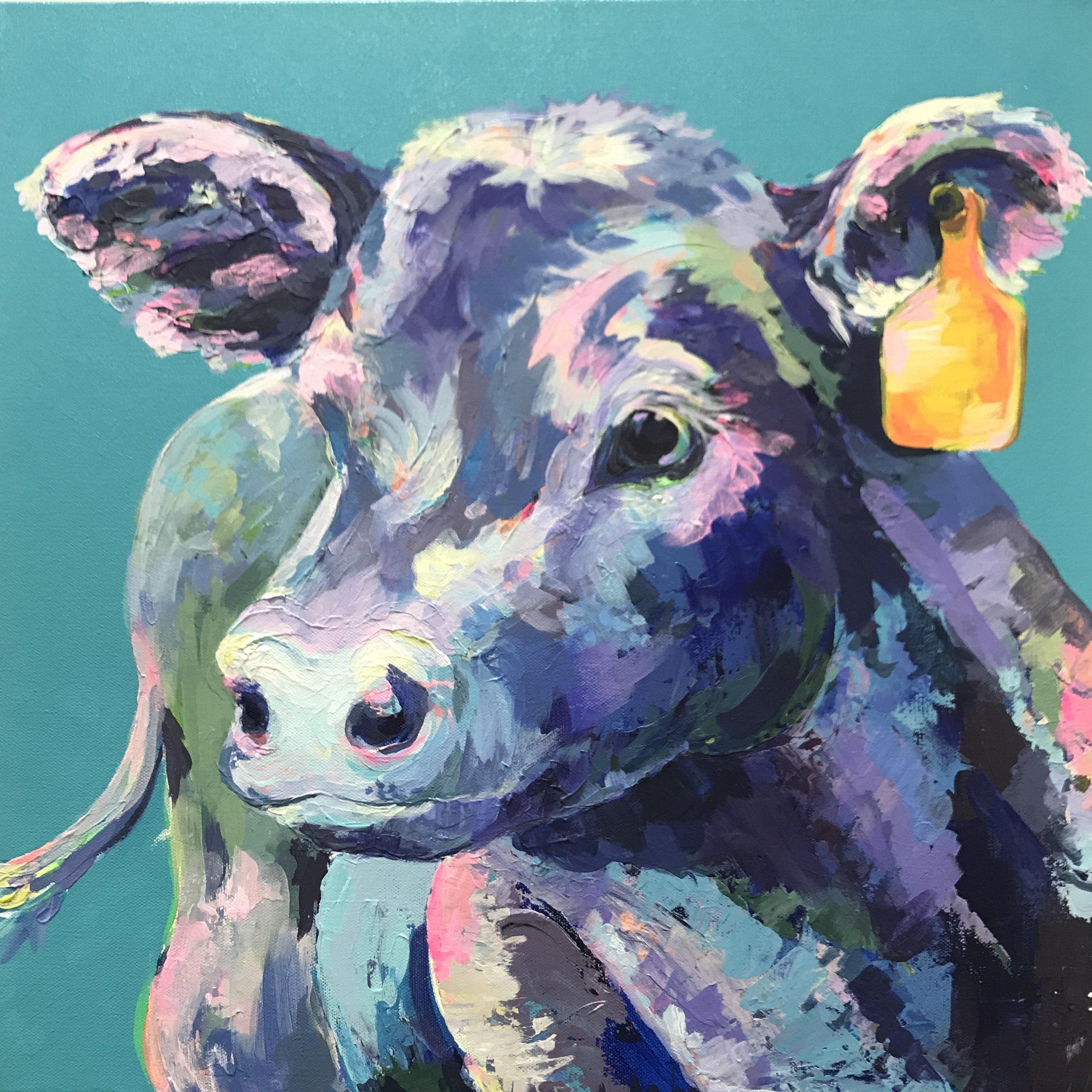 DWenarchuk - Blue Moo 20x20 Acrylic on Canvas.jpeg