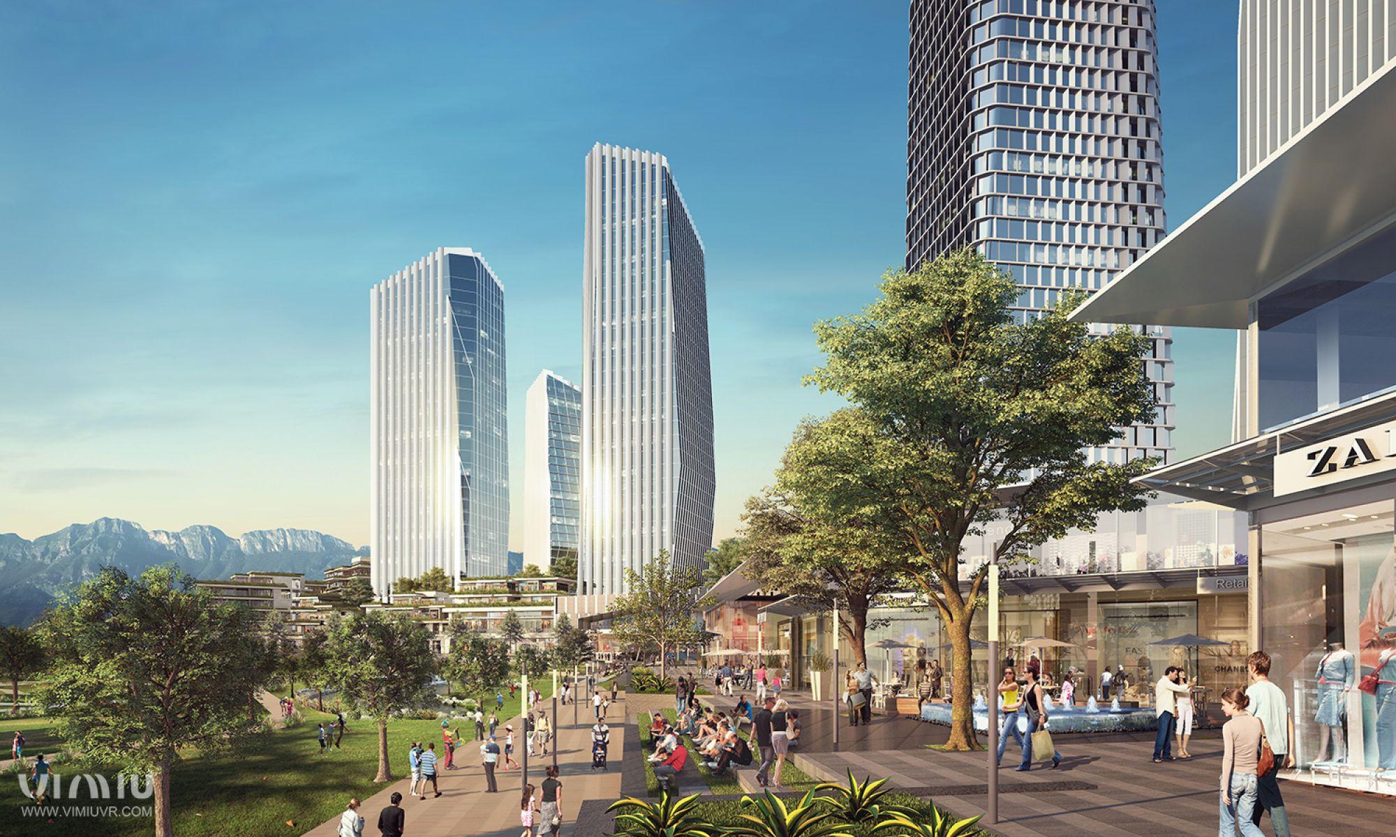 Otra vista del Distrito Diego Rivera | GM Capital   Imagen tomada del sitio cgarchitect.com