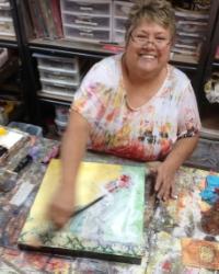 Sue Robertson  Gallery Artist: Contemporary Acrylics