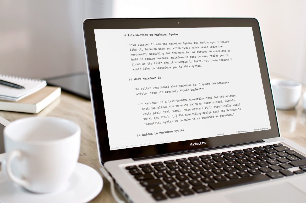 I've written this article with iAWriter
