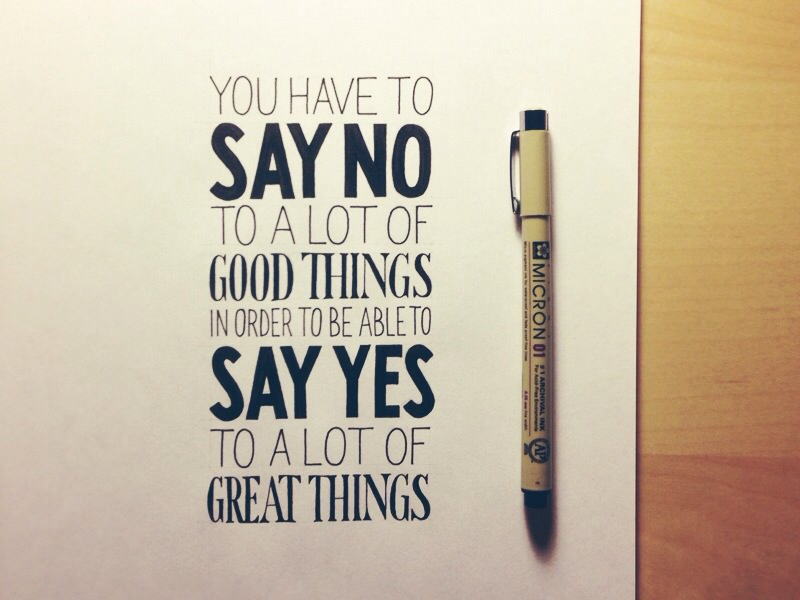 Say No to Things