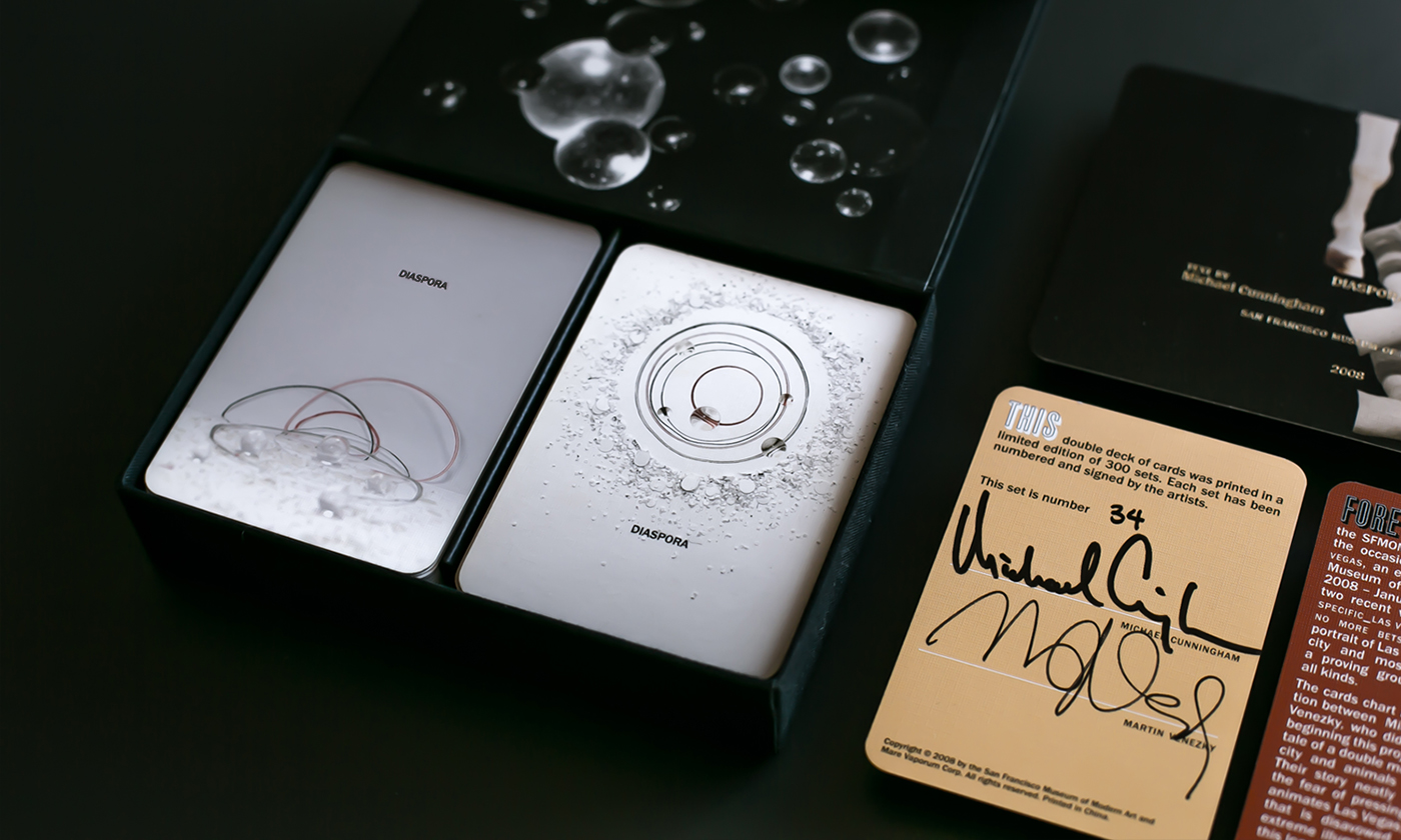 Diaspora, signed by Michael Cunningham and Martin Venezky.