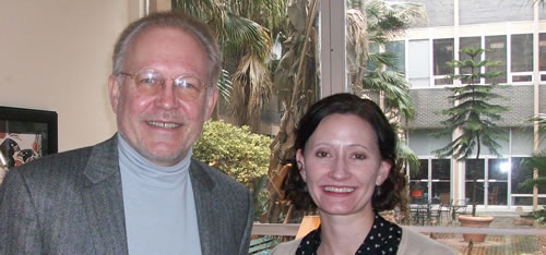 Lonnie Johnson, Director of the Austrian Fulbright Commission, and Dr. Molly Mitchell.