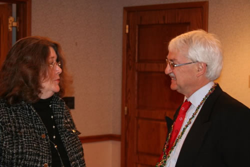 Dr. Bischof (right) with Dr. Caroline Sparks of George Washington University.