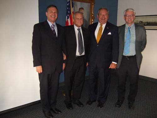 Left: Michael Schwarzinger, Martin Sajdik, Honorary Consul for the Republic of Austria, Philip D. Lorio III and Günter Bischof, Director of Center Austria, UNO.
