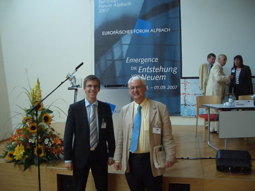 Martin Frick (l.) and Guenter Bischof