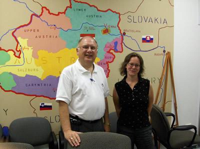 Pictured: Dr. Carl Drichta, Dean of Metropolitan College and Petra Rabitsch