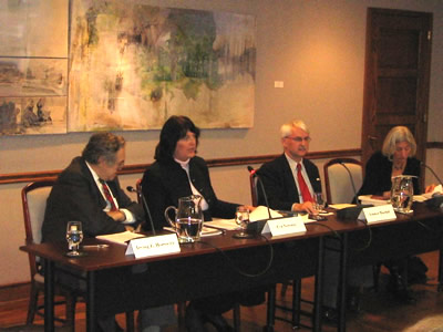 From left to right: Irving Louis Horowitz, Founder and Chairman of the Board, Transaction Publishers; Eva Nowotny, Austrian Ambassador to the United States; Guenter Bischof, Director, Center Austria, University of New Orleans; Dagmar Herzog, Professor of History, City University of New York, Graduate Center