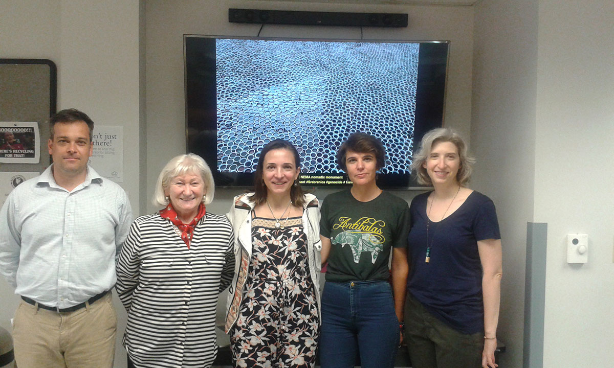 From left: Dr. Marc Landry, Ann Edwards, Aida Sehovic, Dr. Ana Croegaert, unknown