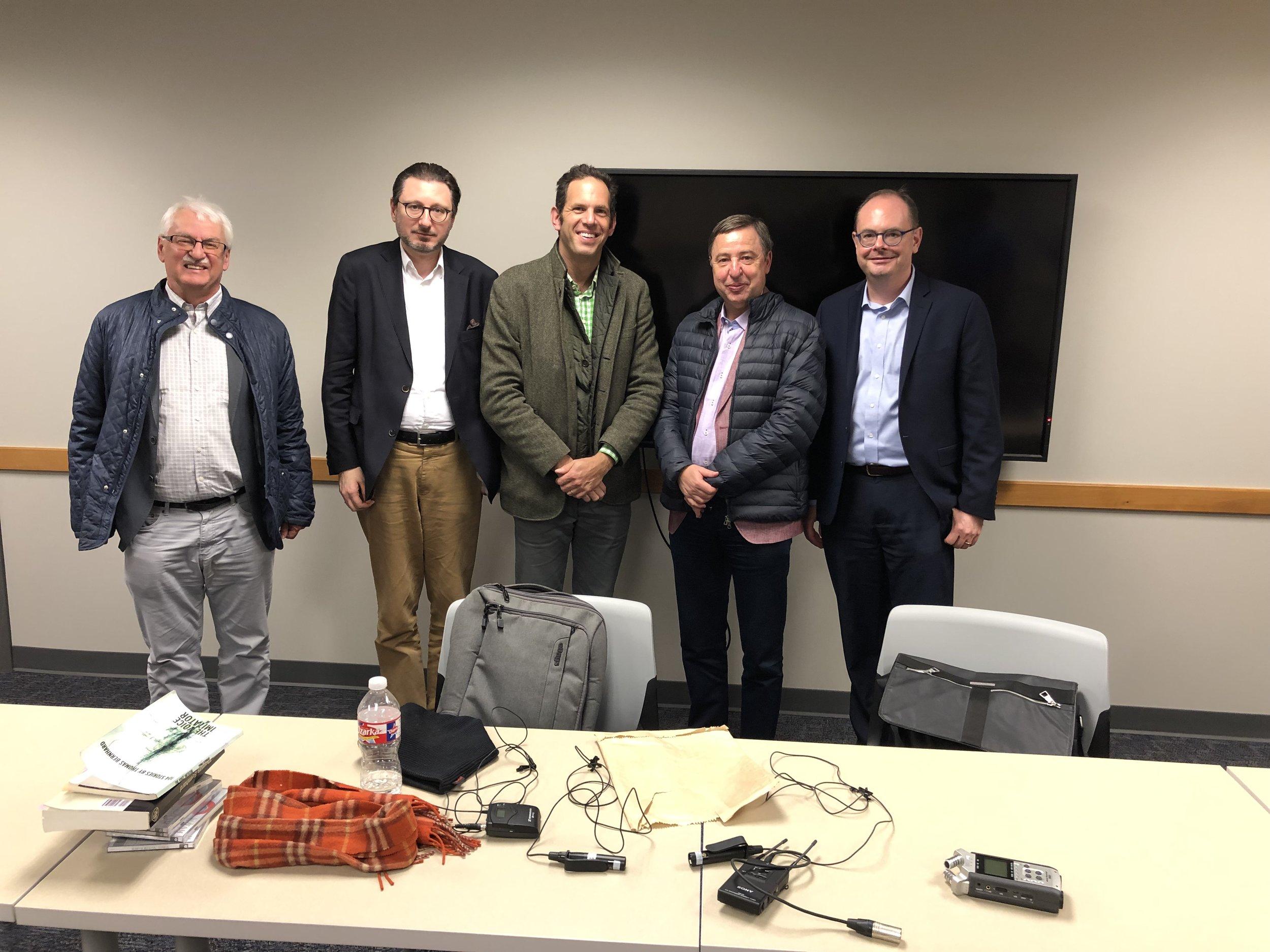 From left: Guenter Bischof, Michael Haider, Yotam Haber, Peter Hoeng, Gregor Thuswaldner.