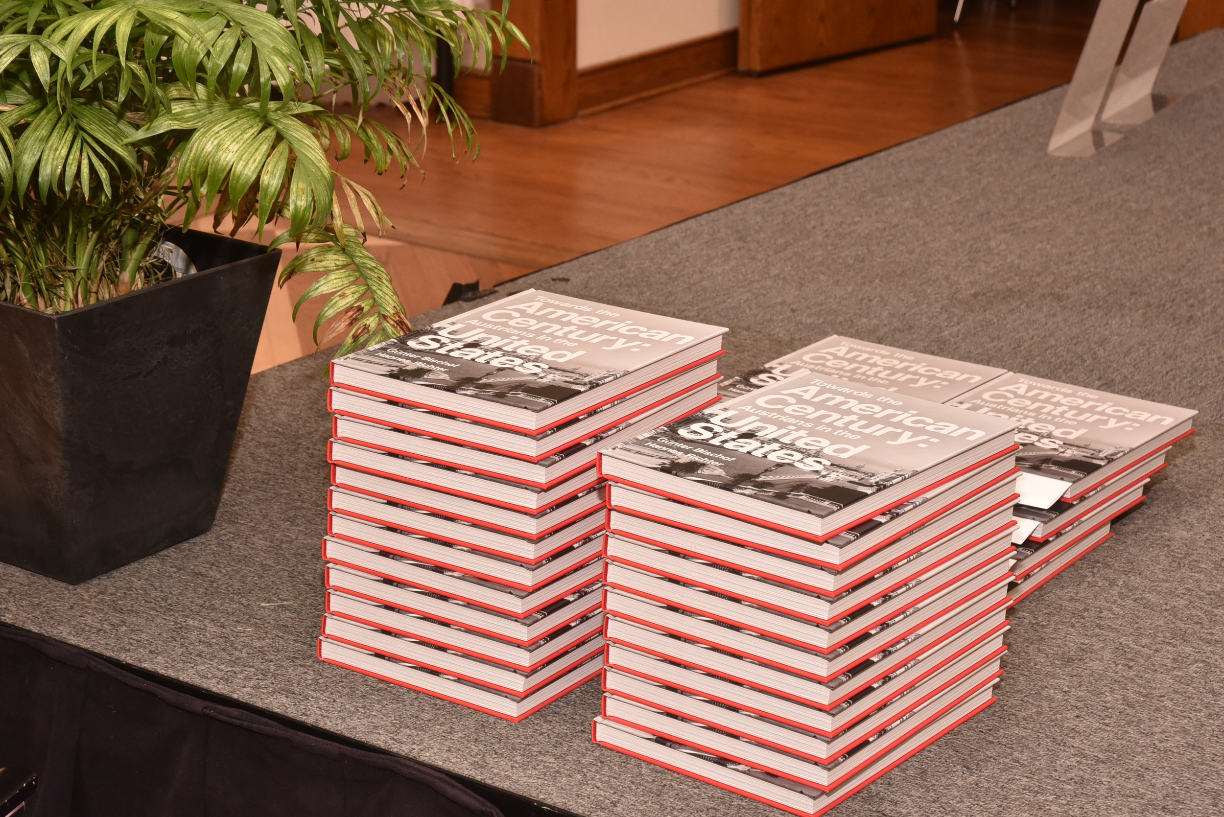 The book  Towards the American Century: Austrians in the United States  accompanies the exhibit and went on sale that evening.   Photo: Peter Alunans