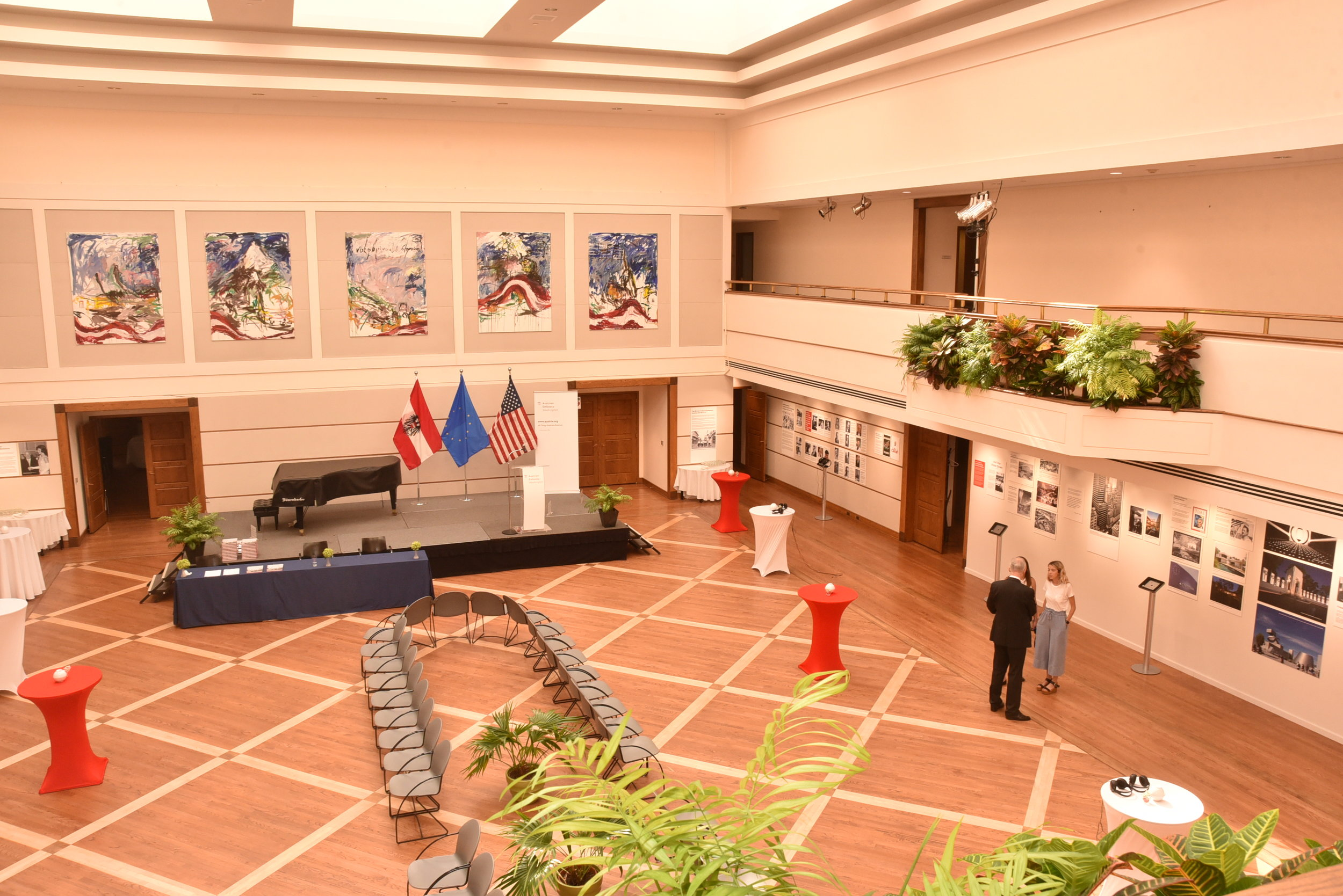 A view of the exhibit before the opening.   Photo: Peter Alunans