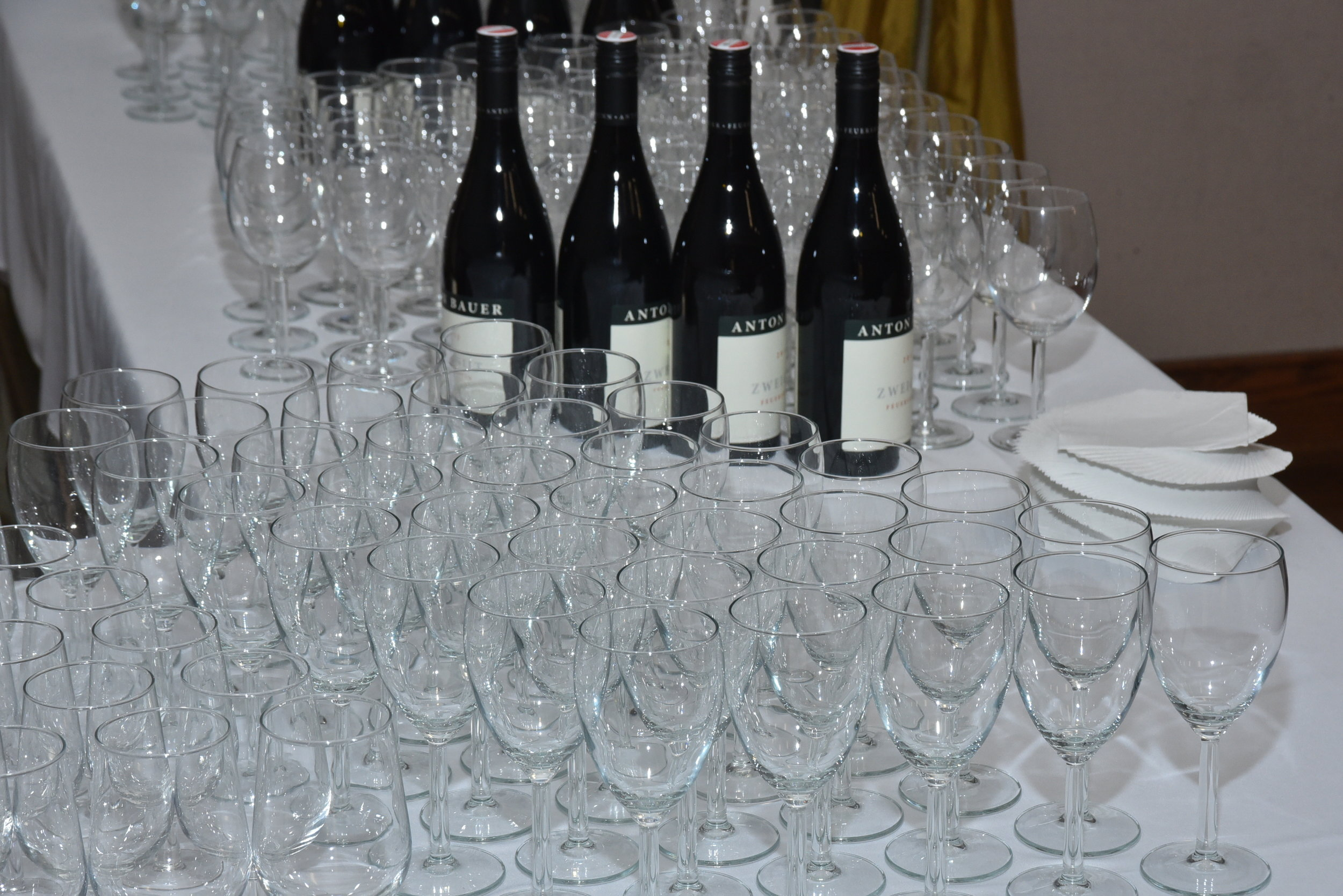Austrian wine and beer were served.   Photo: Peter Alunans