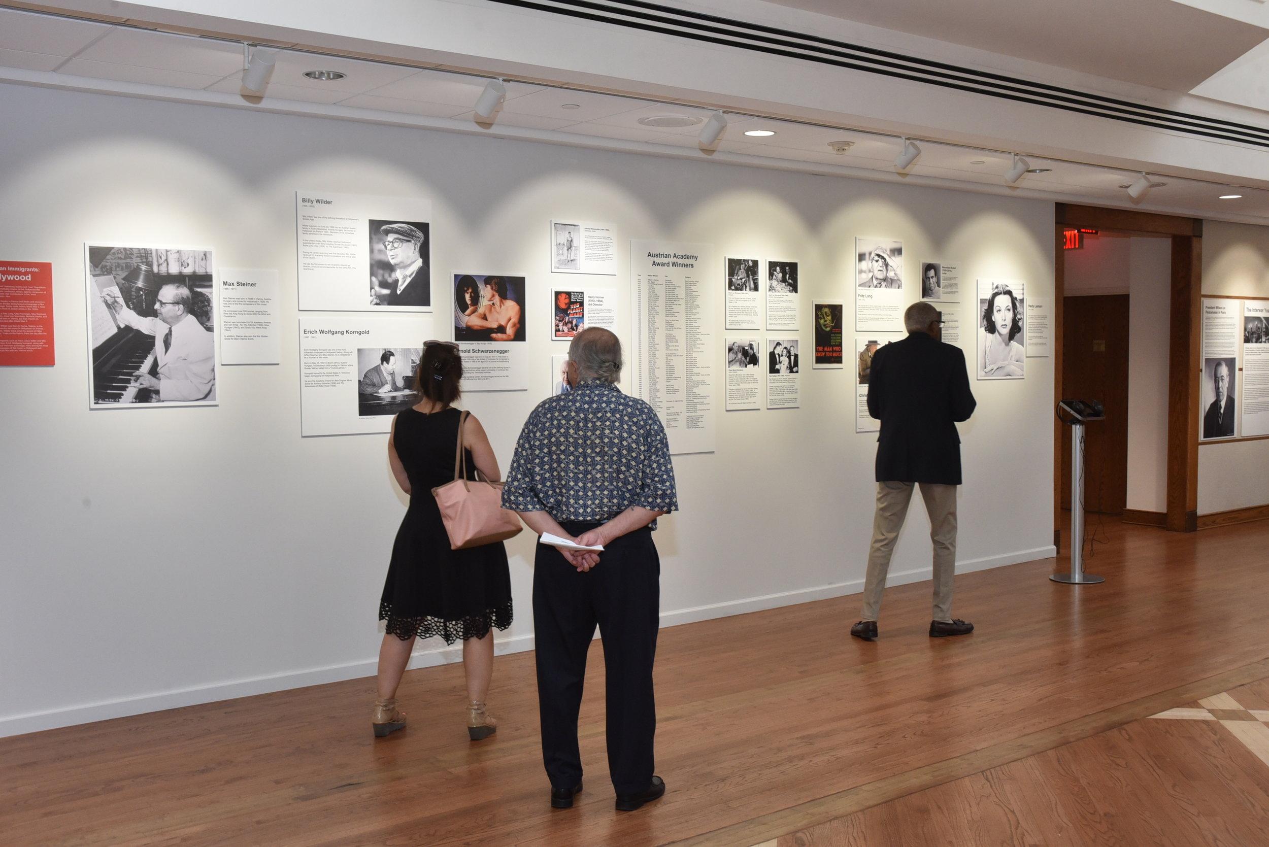 Guests viewing the exhibit  Photo: Peter Alunans