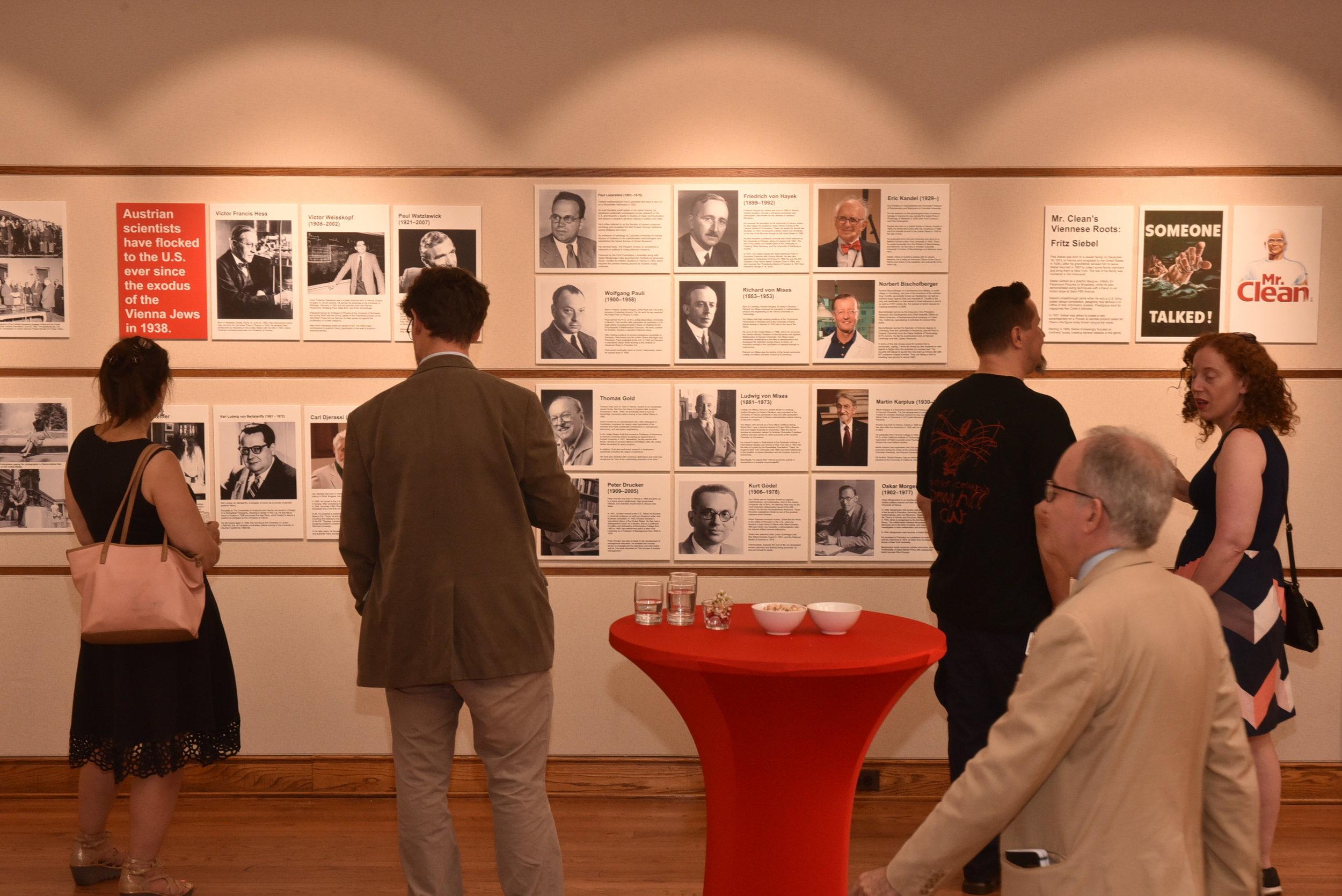 Guests view the exhibit.   Photo: Peter Alunans